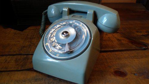 Teléfono De Disco Antiguo Ericsson Verde Pistache