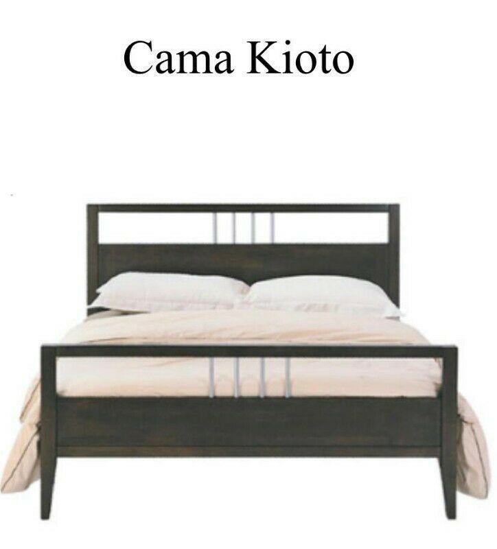 Cama king size sin colchon