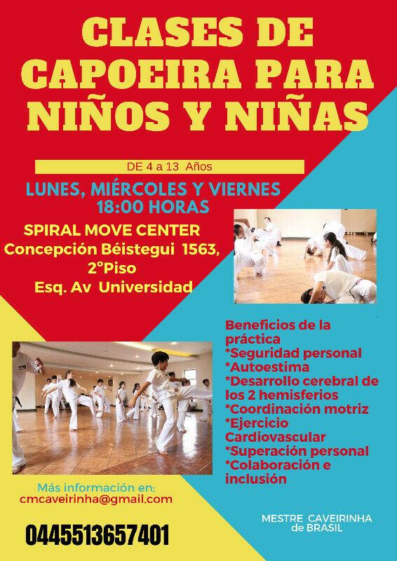 Clases de capoeira para niños