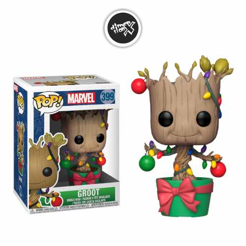 Funko Pop Groot With Lights 399 Holiday Marvel Navideño
