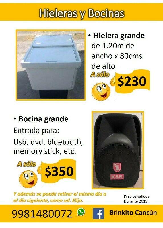 RENTA DE HIELERAS, MESAS, SILLAS, INFLABLES, TOLDOS, BOCINAS
