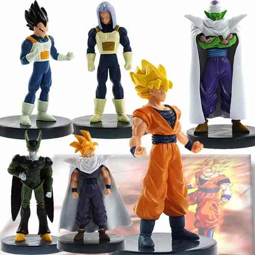 Set 6 Figuras De Dragon Ball Coleccion Con Base Goku G-y124