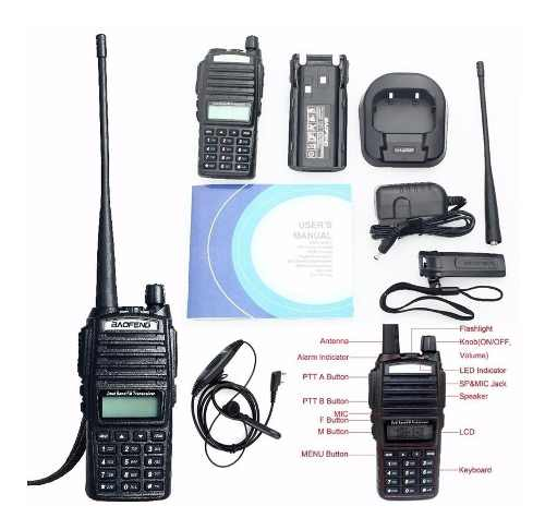 8 Radio Baofeng Uv 82 Doble Banda Vhf Uhf Fm Escaner Lam