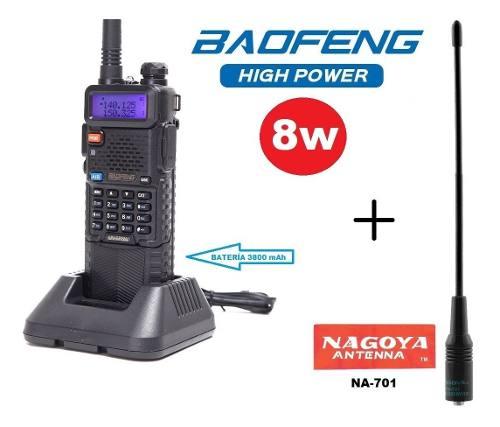 8w Radio Baofeng Uv-5r Pila De  Mah + Antena Nagoya