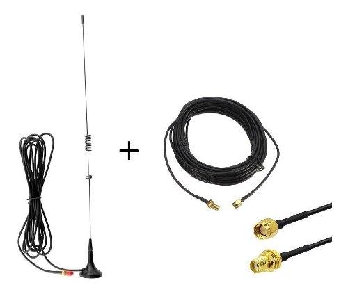 Antena Auto Radios Baofeng + Extensión De 10 Mts