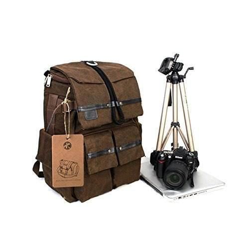 Besteam Lona Impermeable Dslr Slr Camara Mochila Portatil Mo