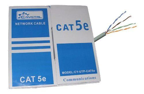 Bobina Cable Red Utp Rj45 Cat5e Ethernet 305 Mts Highspeed