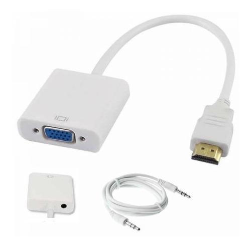 Cable Adaptador Convertidor Hdmi - Vga Conexion 3.5mm Cable