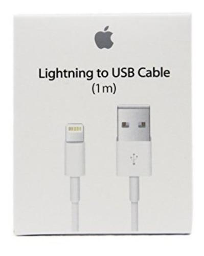 Cable Cargador Original Lightning 1m iPhone 5,6,7,8 X iPad
