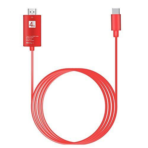 Cable Usb C A Hdmi 6.6ft, Lcj Tipo Usb Cable C A Hdmi 4k 60h
