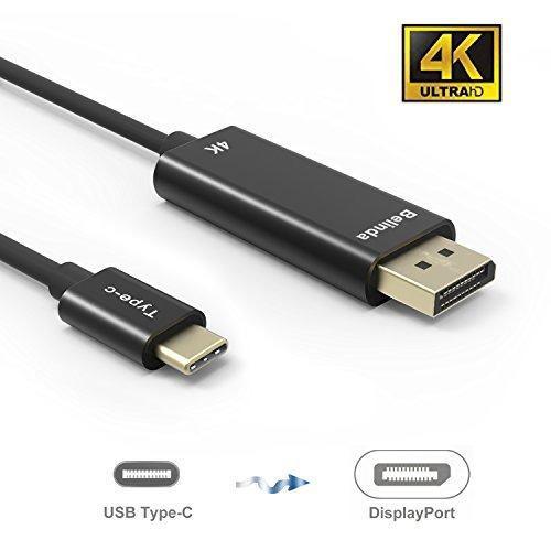 Cable Usb C To Dp, Belinda Usb-c Tipo C Para Displayport Cab