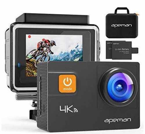 Camara Apeman 4k 20mp Wifi Ultra Hd Sumergible 40m Sensor