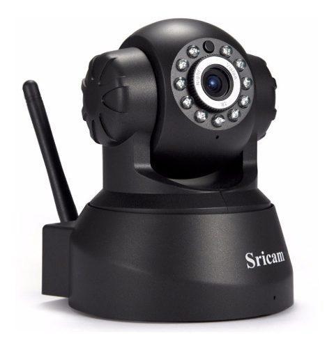 Camara De Seguridad Sricam Ip 720 Wifi Con Altavoz Negra