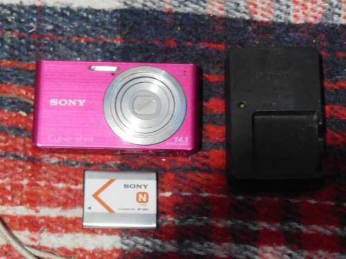 Camara Digital Sony Dsc-w610 Cyber-shot 14.1 M.p Rosada