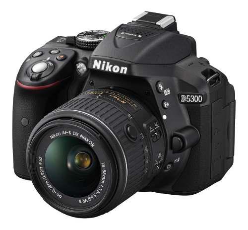 Camara Nikon D5300 24.2 Mp 18-55mm F/3.5-5.6g Vr Gps Nueva