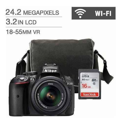 Camara Nikon D5600 Con Af-p Dx Vr 18-55mm + Estuche Y 16g Sd