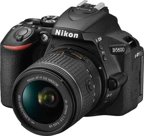 Camara Nikon D5600 Dslr Con Af-p Dx Vr 18-55mm F/3.5-5.6 New