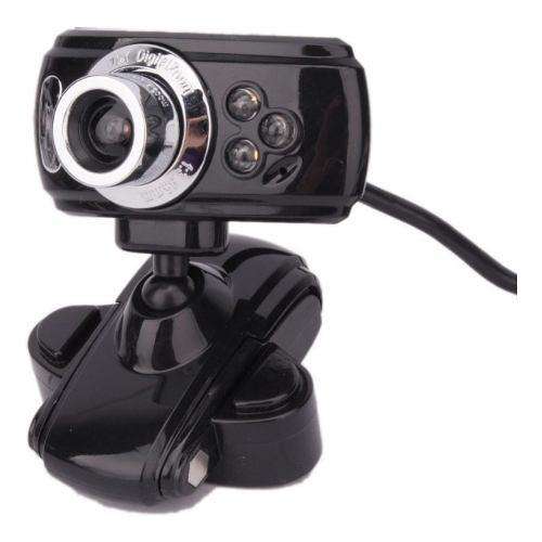 Camara Web Clip Usb Vision Nocturna 3mp Rotacion 180° Pc