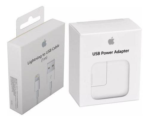 Cargador iPad 12 W + Cable Lightning Apple Todo Original