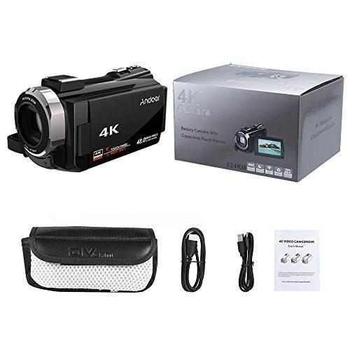 Cámara De Video Digital, 4k Andoer 1080p 48mp Wifi, Con
