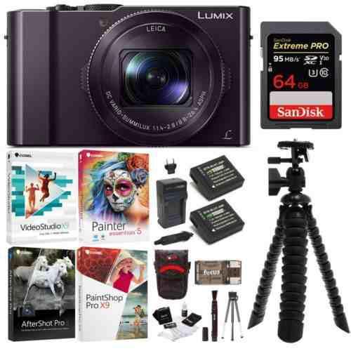 Cámara Digital Con Zoom Óptico Panasonic Leica Con Tarjeta