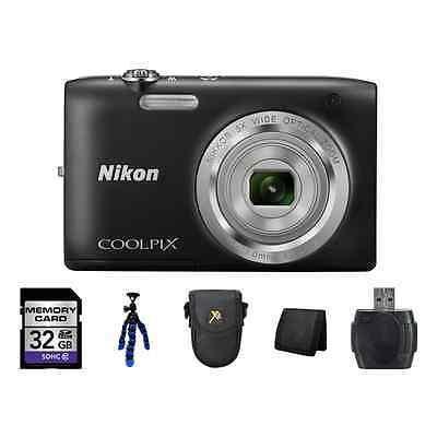 Cámara Digital De Nikon Coolpix S2800 - Kit Completo Negro