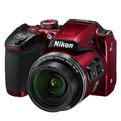 Cámara Digital Nikon Coolpix B500 - Rojo