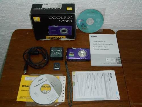 Cámara Digital Nikon Coolpix S3300 4gb Completa En Caja