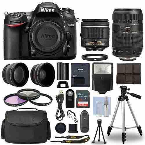 Cámara Digital Slr Nikon D7200 + Kit De 4