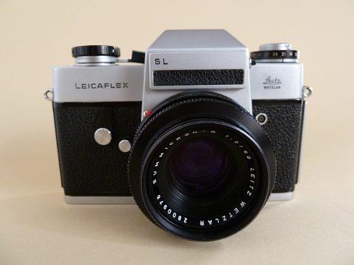 Cámara Leicaflex Chrome Slr Leitz Con Lente (ref 211)