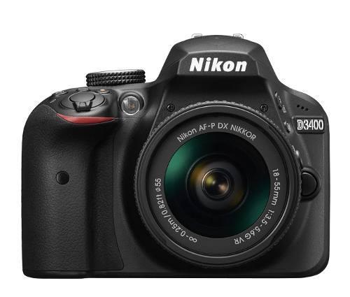 Cámara Nikon D3400 C/lente Af-p 18-55mm F/3.5-5.6g Vr