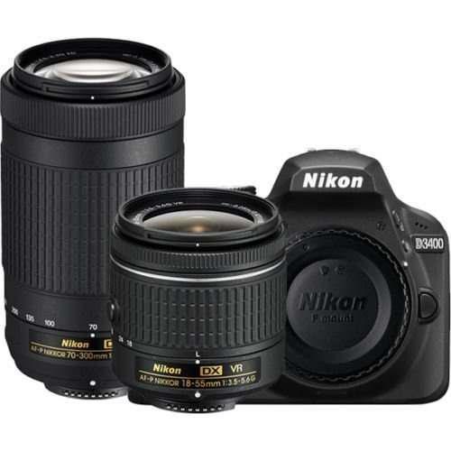 Cámara Réflex Digital Nikon D3400 Con Af-p Dx Nikkor 18-55