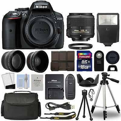 Cámara Réflex Digital Nikon D5300 + Kit De 3 Lentes De