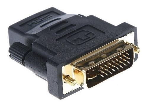 Conector Adaptador Dvi-d O Dvi-i Macho A Hdmi Hembra Fullhd