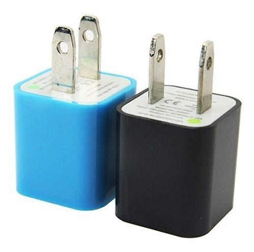 Cubo Cargador De Pared Portatil 5v 1a Universal 10 Colores