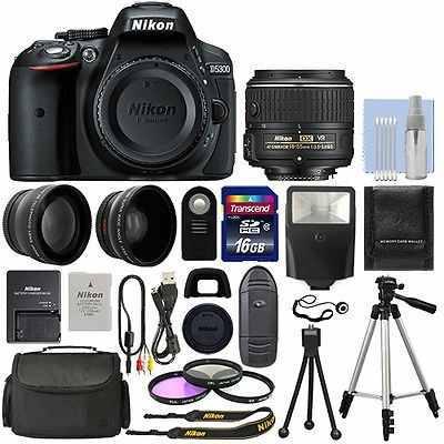 Cuerpo De Cámara Réflex Digital Nikon D5300 + 3 Lente Kit