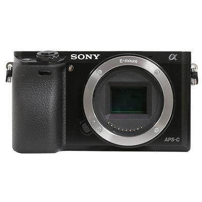 Cuerpo Negro, Cámara Digital De Sony Alpha A6000 Mirrorless