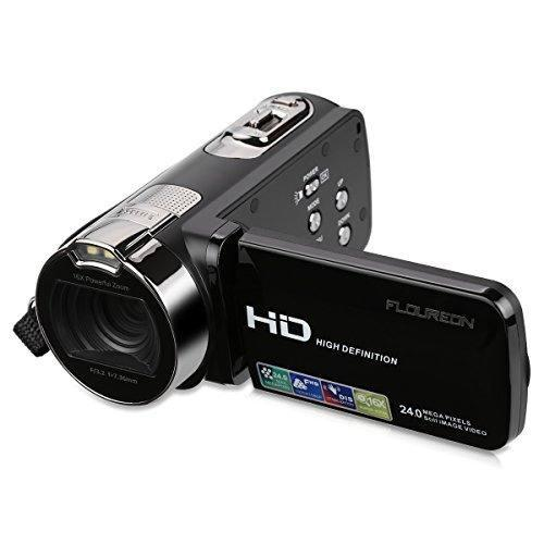 Floureon Hd 1080p Videocámara Video Cámara Digital Dv 2.7
