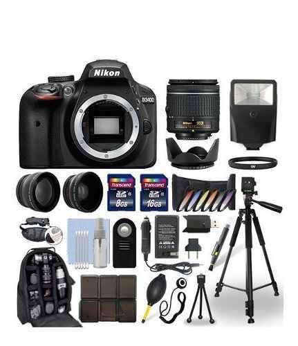 Kit Completo Cámara Nikon D3400 18-55mm Vr + 24 Accesorios