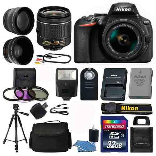 Kit Completo De Camara Nikon D5600 18-55 + 24 Artículos