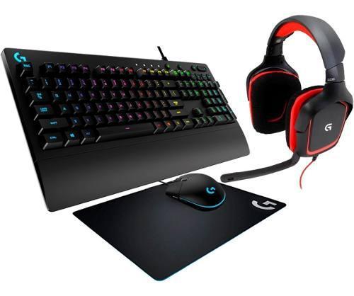 Kit Gamer Logitech Audifonos G230 Teclado G213 Mouse G203