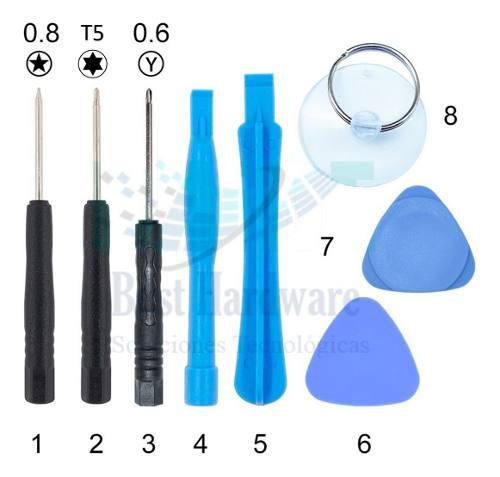 Kit Herramientas Reparación iPhone 4 5 6 7 Desarmador
