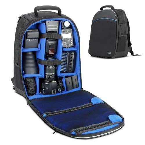 Mochila Camara Reflex Slr/dslr Usa Gear Laptop Viaje Campo