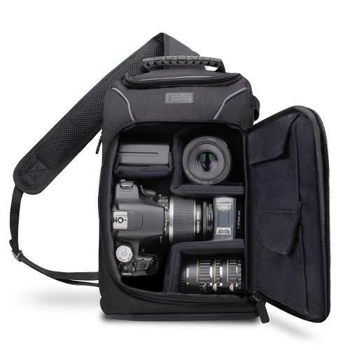 Mochila Cruzada Camara Reflex Dslr/slr Compacta Usa Gear