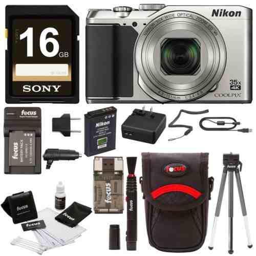 Nikon Coolpix A900 Cámara Digital (plata) Con Tarjeta De