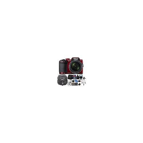 Nikon Coolpix B500 16mp Cámara Digital Rojo Con Accesorios