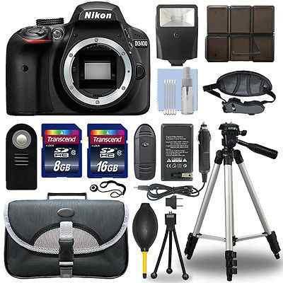 Nikon D3400 24.2 Mp Digital Slr Cámara Cuerpo + Paquete