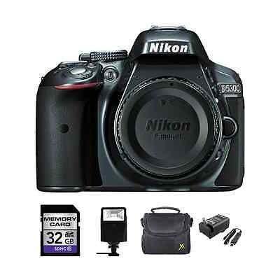 Nikon D5300 Digital Slr Cámara (cuerpo) - Gris + 32gb,