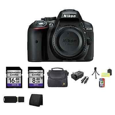 Nikon D5300 Digital Slr Cámara (cuerpo) - Negro 24gb