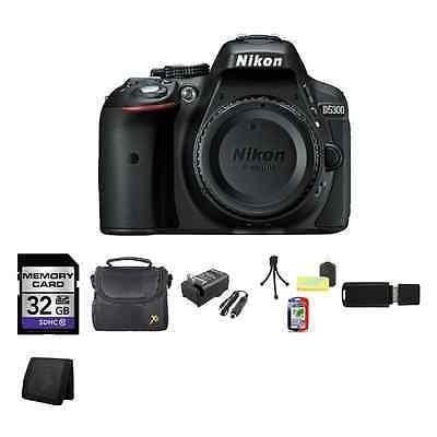 Nikon D5300 Digital Slr Cámara (cuerpo) - Negro 32gb Mejor